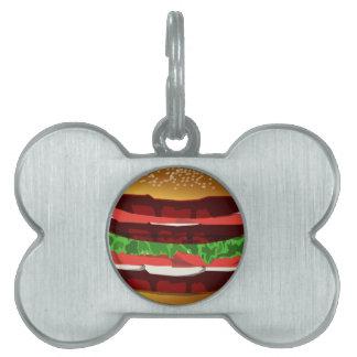 ハンバーガー ペットネームタグ