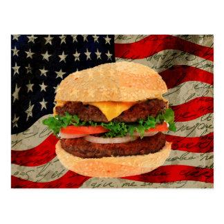 ハンバーガー ポストカード