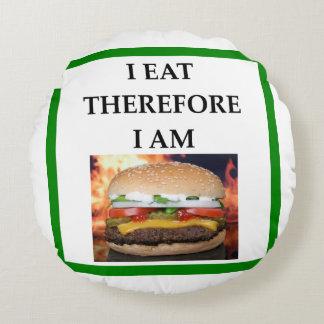 ハンバーガー ラウンドクッション