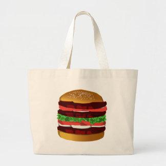 ハンバーガー ラージトートバッグ