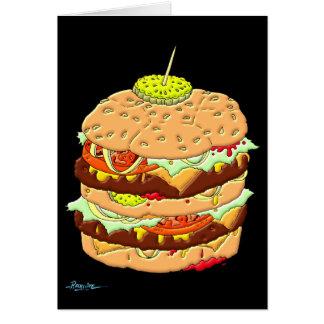 ハンバーガー(中詩無し) グリーティングカード