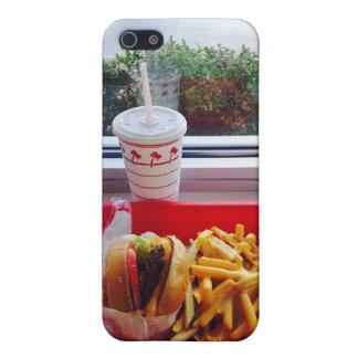 ハンバーガー、揚げ物および飲み物。 iPhone 5Cの場合 iPhone 5 ケース
