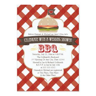 ハンバーガーBBQのウェディングシャワーの招待状 カード