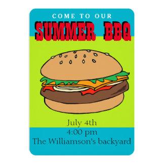 ハンバーガーBBQの招待 カード