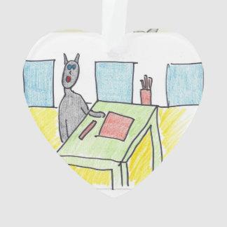 ハンバーグは黒猫訪問者のオーナメントを得ます オーナメント