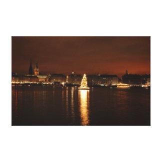 ハンブルクのクリスマス キャンバスプリント