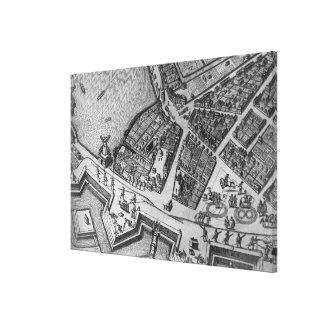 ハンブルクの地図 キャンバスプリント