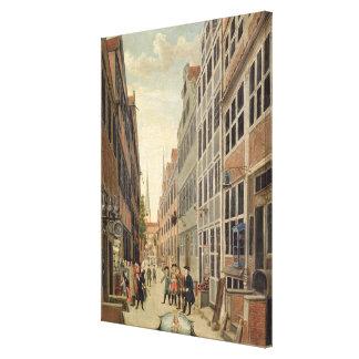 ハンブルクのBrandstweite、1775年 キャンバスプリント