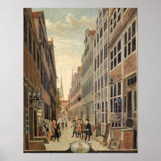 ハンブルクのBrandstweite、1775年 ポスター