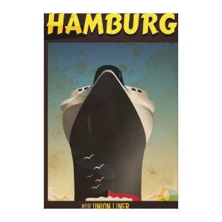 ハンブルクはさみ金のヴィンテージ旅行ポスター キャンバスプリント