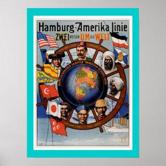 ハンブルクアメリカラインポスター ポスター