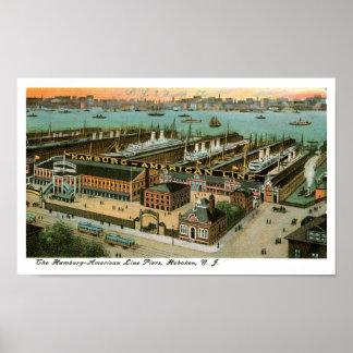 ハンブルクアメリカライン桟橋 ポスター