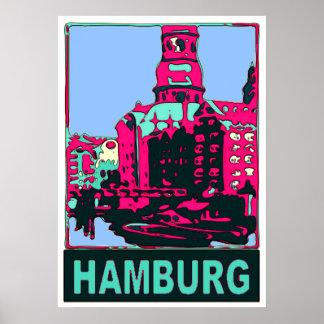 ハンブルクドイツ旅行 ポスター