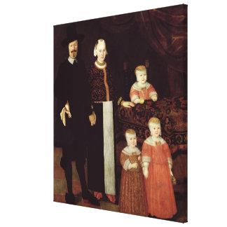ハンブルク家族のポートレート、c.1640 キャンバスプリント