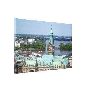 ハンブルク市庁舎 キャンバスプリント