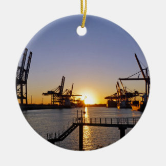 ハンブルク港 セラミックオーナメント