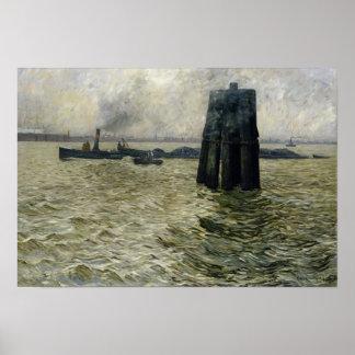 ハンブルク1894年の港 ポスター