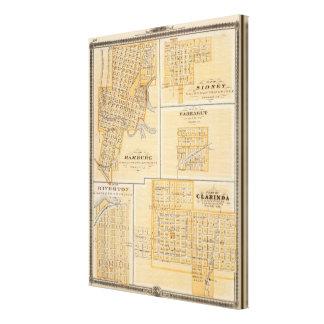 ハンブルク、シドニー、Farragutの計画 キャンバスプリント