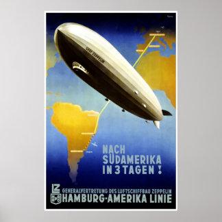 ハンブルクAmerika LinieハンブルクアメリカラインHAPAG ポスター