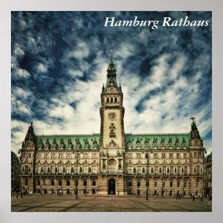 ハンブルクRathaus、ドイツ ポスター