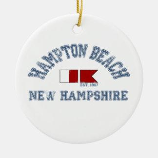 ハンプトンのビーチ-航海のな設計 セラミックオーナメント