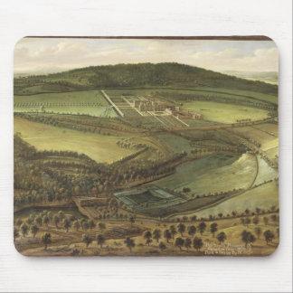 ハンプトンコート、c.1699 (油oの北の見通し マウスパッド