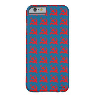 ハンマーのベクトルの共産主義の印 BARELY THERE iPhone 6 ケース