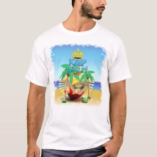 ハンモックでリラックスするために平静を…保てば! 人のTシャツ Tシャツ