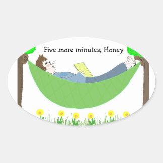 ハンモックのパパ 楕円形シール