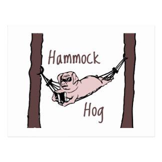 ハンモックのブタを知っていますか。 はがき