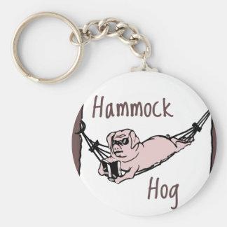 ハンモックのブタを知っていますか。 キーホルダー