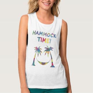 ハンモックの時間! 女性の夏のTシャツ、上、タンク タンクトップ