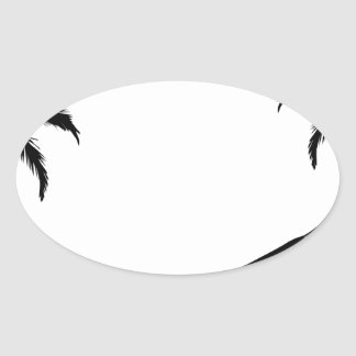 ハンモック 楕円形シール