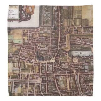 ハーグ1649年のレプリカ都市地図 バンダナ