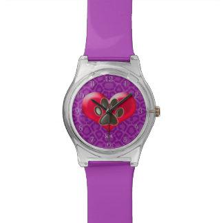 ハートおよび健康の治療のU一突き色か足 腕時計