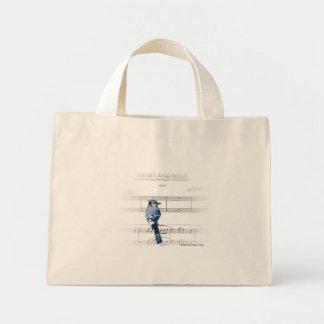 ハートおよび精神-アオカケス ミニトートバッグ