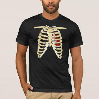 ハートおよび肋骨 Tシャツ