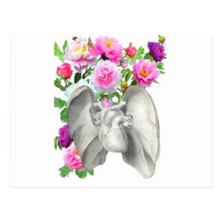 ハートおよび花のヴィンテージのデザイン ポストカード
