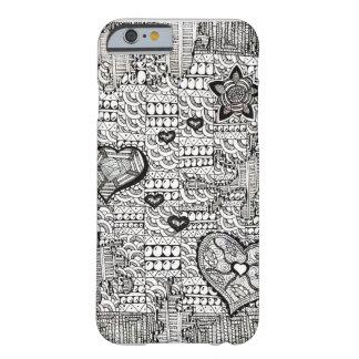 ハートおよび花始め BARELY THERE iPhone 6 ケース