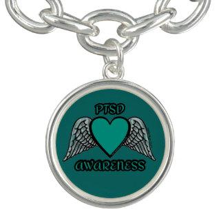 ハートか翼… PTSD チャームブレスレット