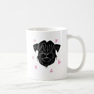 ハートが付いているアーフェンピンシャーのポートレート コーヒーマグカップ