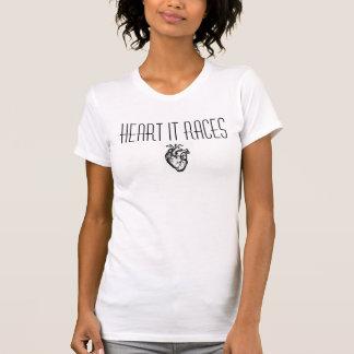 ハートそれはRacerbackタンクを競争させます Tシャツ