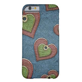 ハートとの居心地のよいジーンズのIPhone6ケース Barely There iPhone 6 ケース