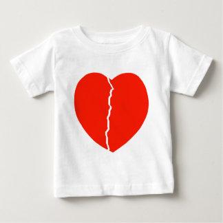 ハートのひび ベビーTシャツ