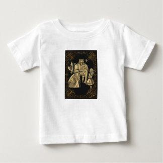 ハートのアリスの不思議の国のワイシャツの王そして女王 ベビーTシャツ