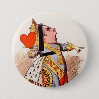 """ハートのアリス女王2-3""""ボタン 7.6CM 丸型バッジ"""