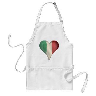ハートのイタリアンな旗 スタンダードエプロン