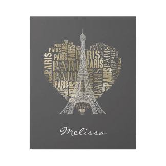 ハートのエッフェル塔|の金銘刻文字パリ ギャラリーラップ