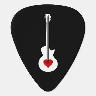 ハートのギターのギターピック ギターピック