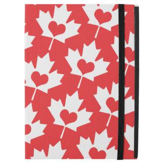"""ハートのクラシックなカナダの旗のカエデの葉 iPad PRO 12.9"""" ケース"""